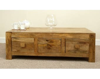 Mantis Coffee Table with 6 Drawers