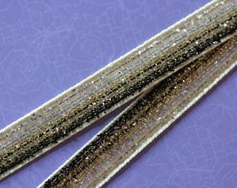 black velvet glitter Ribbon