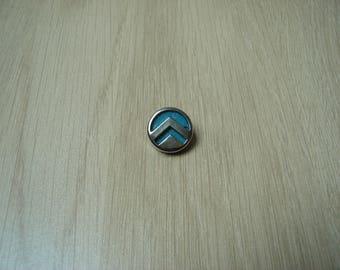 button on tail both material vintage turquoise blue and silver