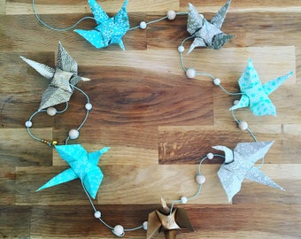 """Flight"" origami cranes Garland"