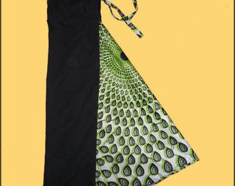 Harem pants black, green and white