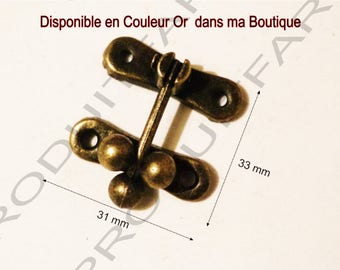 Set of 8 clasps latch ball Bronze lock box treasure chest box 33 x 31 screws included