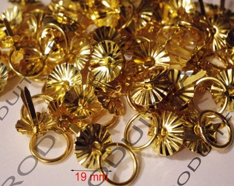 Set 12 handle handle rings gold clip-on furniture business Buffet Secretary dresser drawer