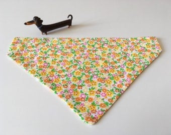 Yellow, pink & orange modern print floral bandana