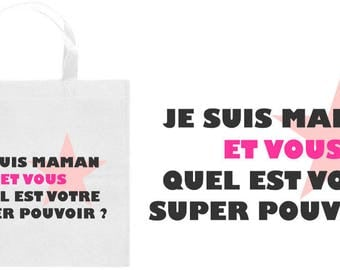 TOTE BAG I'M MOM?  -MOTHER'S DAY SPECIAL