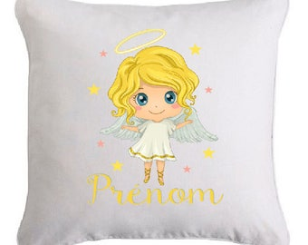 LITTLE angel pillow personalized with text of your choice