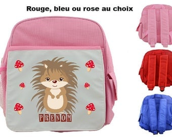 """""""HEDGEHOG"""" KIDS BACKPACK PERSONALIZED WITH CHILD'S NAME"""