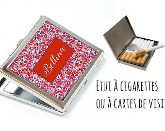 CIGARETTE or card case personalized - liberty Red
