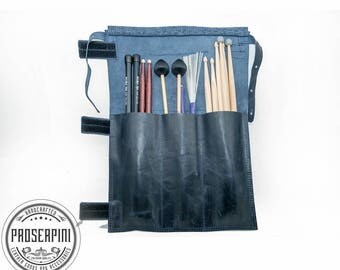 Personalized Leather Stick bag, Stick bag, Drumstick case, Drumstick holder, Drumsticks bag, Retro style, Drum accessory, Musician case