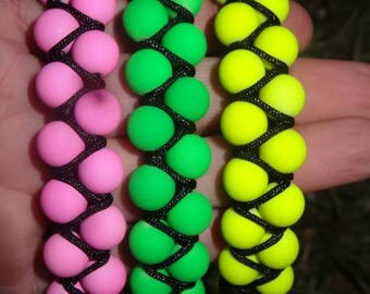 double bracelet beads neon very trendy this summer