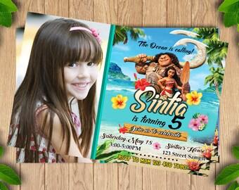 Moana Invitation, Printable Invites, Moana Birthday invite, Moana Invitation, Moana Birthday Invitation Printable, Moana Birthday Card,