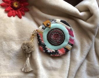Hippie purse, embroidered purse, ethnic coin purse