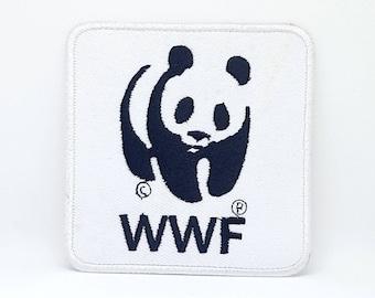 332# WWF PANDA LOGO Iron/ Sew-on Embroidered Patch/ Badge