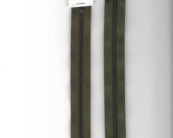 "Closure zipper""plastic"" not separable Z51 45cm khaki 765"