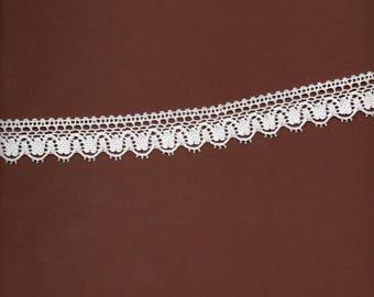 """""""Pure white"""" 2cm wide cotton lace"""