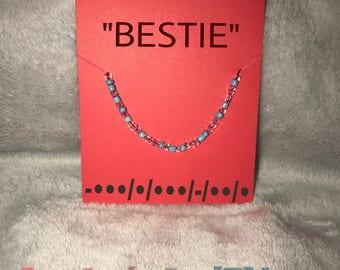 """Adjustable MorseCode bracelet or Anklet """"BESTIE"""""""