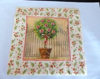 Rose paper towel rack