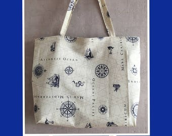 Bag XL sailor theme with waterproof lining