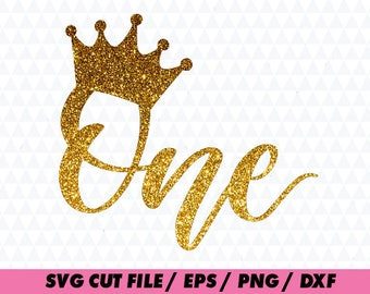 First birthday svg, One svg, Birthday svg, Crown svg, Baby svg, Girl svg, Boy svg, Birthday cricut, One cricut, Lettering Cursive Decal