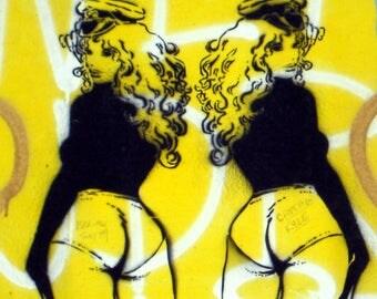 Berlin Girls: Street Art printed on acrylic