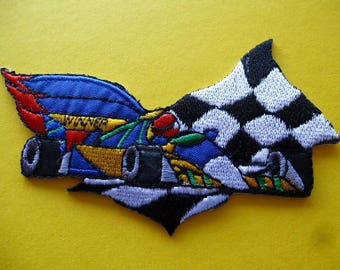 applique patch race car formula 1 patch for sewing and decorating 9006.5