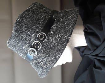 Dark Heather gray hat and lurex