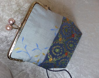 vintage brocade fabric and silk bag