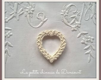 Decorative plaster Crown heart