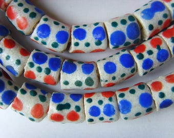 48 glass paste beads African pgbl17