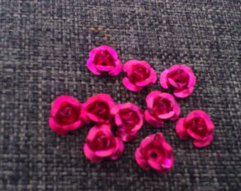 set of 10 spacer in the shape of rose jewelry
