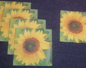 a set of 5 towels sunflower