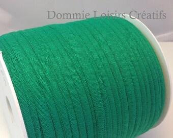 Ball of Trapillo cotton dark emerald green lycra