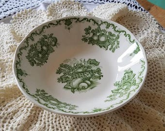 Mason s Ironstone Green & White Small Plate-Bowl- Made in England!