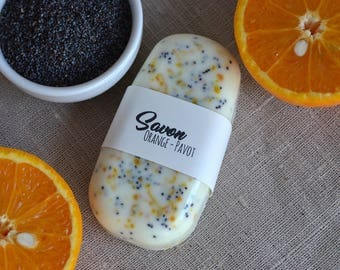 Orange and Poppy Exfoliating Soap - Exfoliating Soap