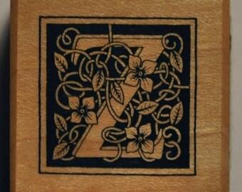 Wood stamp - letter Z