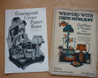Vintage Weaving with Crepe Paper Rope leflets