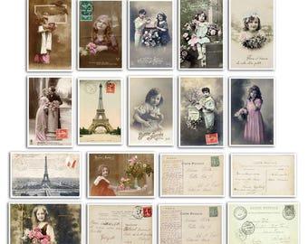 Embellishment - card vintage postcard - the time of secrets - TOGA - Scrapbooking