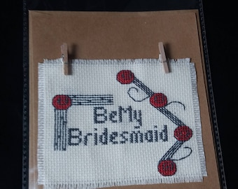 Handmade cross stitch card