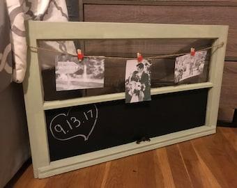 Window Picture Frame Rustic Chalkboard