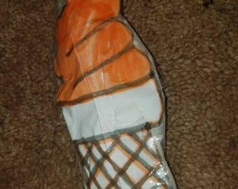 Orange PAPER squishy ice cream cone