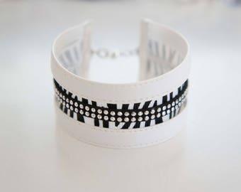 Cuff Bracelet original black and white - Zebra
