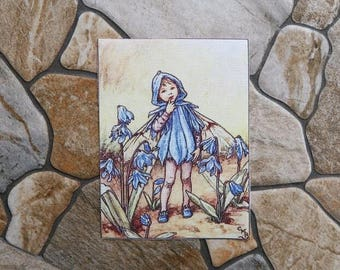 Fairy blue Patchwork fabric coupon
