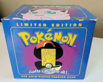 Limited Edition 23k Gold-Plated Pokemon Trading Card- Jigglypuff