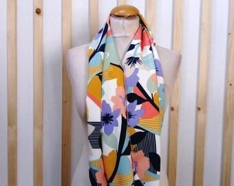 Colorful scarf, retro, trendy scarf/shawl scarf