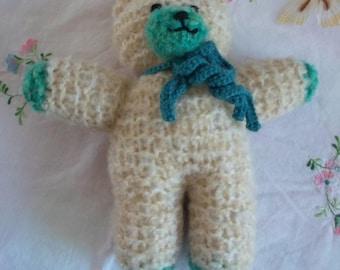 My little bear green and ecru