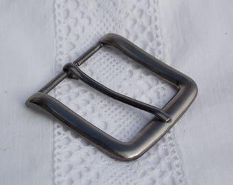 Belt buckle for belt 4 cm or 40 mm anthracite metal