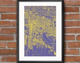 Tucson Map Art Print –Vivid // Tucson Poster | Tucson Art | Tucson Print // Free Shipping