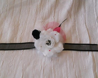Ribbon color black fuschia and white wedding flower set