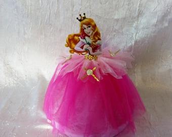 Princess for a baptism or birthday centerpiece