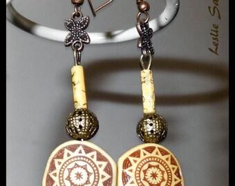 """New earrings """"YAKI"""" ethnic chic"""